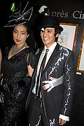 ANDY AND PATTI WONG, Patti and Andy Wong  host a night of Surrealism to Celebrate the Chinese Year of the Rat. County Hall Gallery and Dali Universe. London. 27 January 2008. -DO NOT ARCHIVE-© Copyright Photograph by Dafydd Jones. 248 Clapham Rd. London SW9 0PZ. Tel 0207 820 0771. www.dafjones.com.