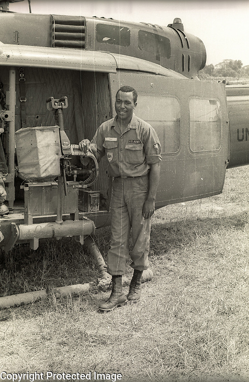 "Crewman ""Turk"" of 121st Aviation, Soc Trang Tigers."