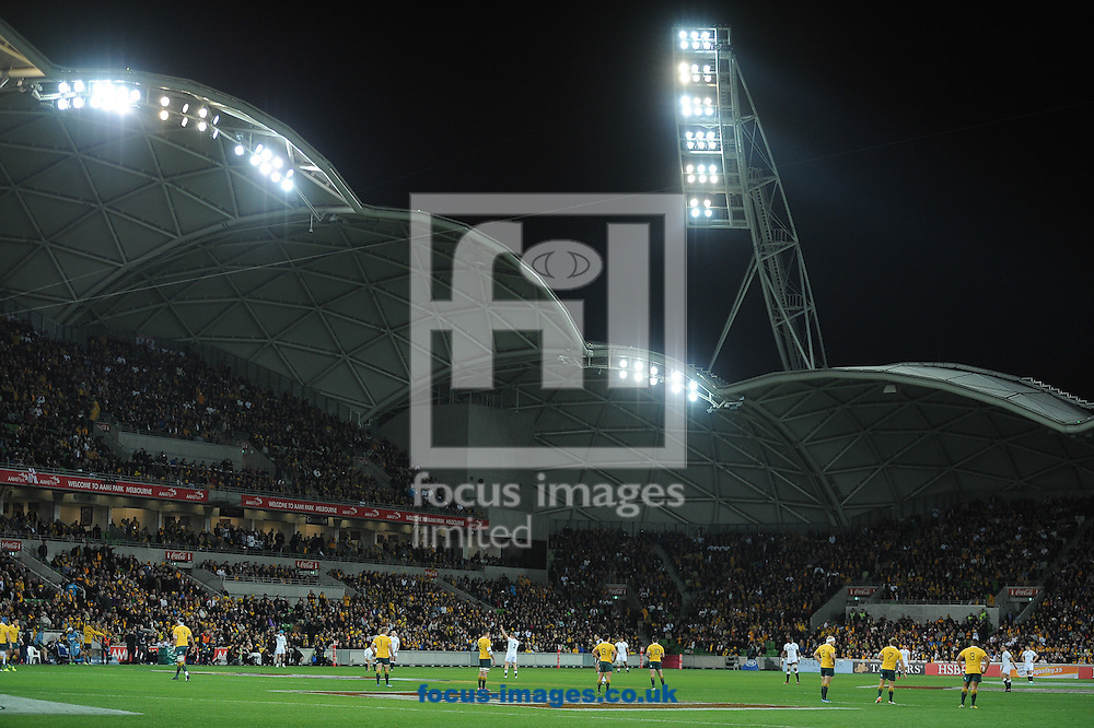 A general view of the staduim during the International Test Match match at AAMI Stadium, Melbourne<br /> Picture by Frank Khamees/Focus Images Ltd +61 431 119 134<br /> 18/06/2016