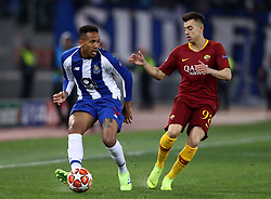 February 12, 2019 - Rome, Italy - Eder Militao of Porto and Stephan El Shaarawy of Roma during the UEFA Champions League round of 16, first leg football match AS Roma and FC Porto on February 12, 2019 at the Olympic stadium in Rome, Italy. (Credit Image: © Matteo Ciambelli/NurPhoto via ZUMA Press)