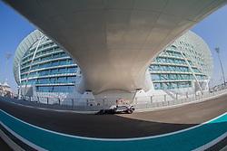 November 24, 2017 - Abu Dhabi, United Arab Emirates - Romain Grosjain of France and Haas Team driver goes during the first practice at Formula One Etihad Airways Abu Dhabi Grand Prix on Nov 24, 2017 in Yas Marina Circuit, Abu Dhabi, UAE. (Credit Image: © Robert Szaniszlo/NurPhoto via ZUMA Press)