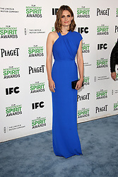 Stana Katic at the 2014 Film Independent Spirit Awards Arrivals, Santa Monica Beach, Santa Monica, United States, Saturday, 1st March 2014. Picture by Hollywood Bubbles / i-Images<br /> UK ONLY