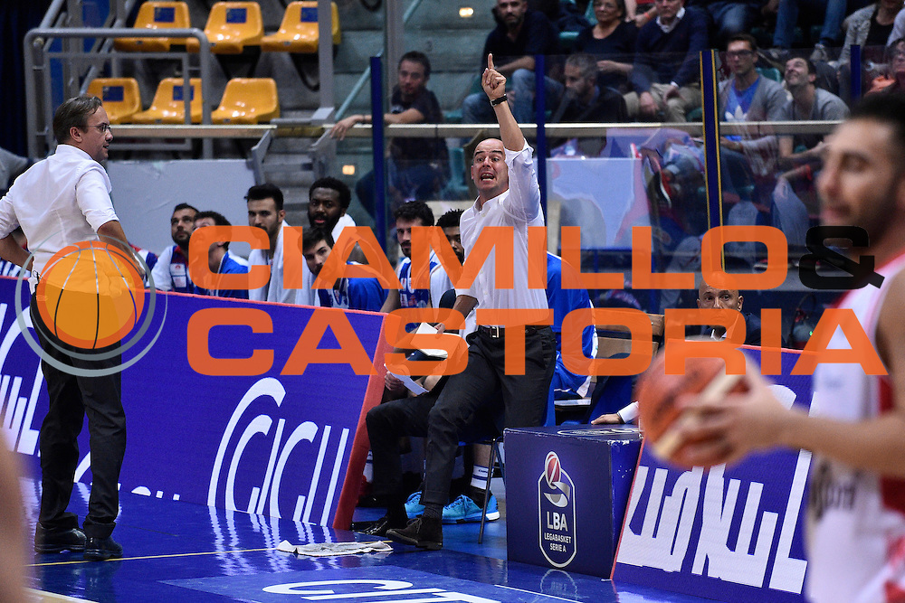 Baioni Giacomo<br /> Grissin Bon Reggio Emilia - Banco di Sardegna Sassari<br /> Lega Basket Serie A 2016/2017<br /> Reggio Emilia 08/10/2016<br /> Foto Ciamillo-Castoria