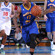 Santa Cruz Warriors Guard Kiwi Gardner (17) seen dribbling the ball up court in the second half of a NBA D-league regular season basketball game between the Delaware 87ers and the Santa Cruz Warriors (Golden State Warriors) Tuesday, Jan. 13, 2015 at The Bob Carpenter Sports Convocation Center in Newark, DEL