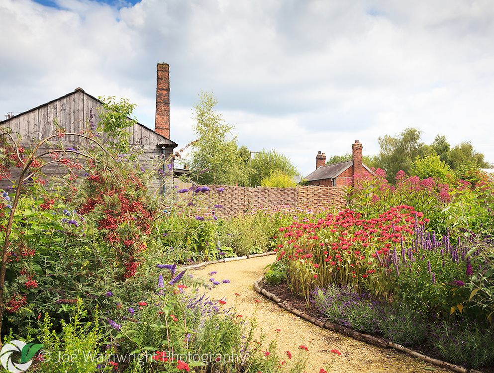 The delightful Butterfly Garden, which has been created by a group of volunteers in the grounds of the Lion Salt Works, Northwich, Cheshire.