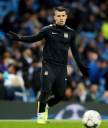 Sergio Aguero of Manchester City warms up - Mandatory byline: Matt McNulty/JMP - 15/03/2016 - FOOTBALL - Etihad Stadium - Manchester, England - Manchester City v Dynamo Kyiv - Champions League - Round of 16