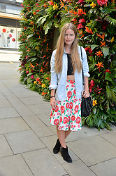 KATIE READMAN at a 'Tropical fete' at Kate Spade New York, 2 Symons Street, Sloane Square, London in celebration of the Chelsea Flower Show on 22nd May 2014.