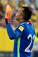 SYDNEY, NSW- NOVEMBER 15: Honduras Donis Escober (22) prays before the game  at the Soccer World Cup Qualifier between Australia and Honduras on November 10, 2017. (Photo by Steven Markham/Icon Sportswire)