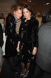 Left to right, ELIZABETH VON GUTTMAN and ASTRID MUNOZ at a party hosted by Allegra Hicks to launch Lapo Elkann's fashion range in London held at Allegra Hicks, 28 Cadogan Place, London on 14th November 2007.<br />