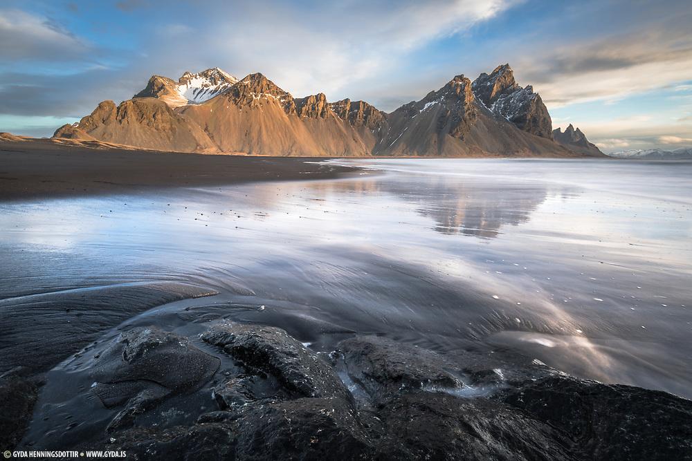 Stokksnes beach in Southeast Iceland