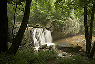 Kilgore Waterfalls in Rocks State Park, Harford County, Maryland. Summer. Morning.