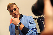 Model Jake Cassar debuts the Timex Mod Watch backstage at the Todd Snyder Spring 2017 fashion show, Thursday, July 14, 2016, at New York Fashion Week: Men's.   (Diane Bondareff/AP Images for Timex)
