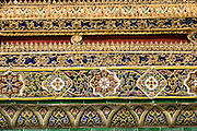 Decorative tiles within The Grand Palace and Temple Complex, Bangkok, Thailand