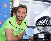 January 07, 2017: Two-time defending champion Viktor Troicki (SRB) pictured following the draw ceremony for the Apia International Sydney 2017 at Sydney Olympic Park Tennis Centre. Viktor Troicki is attempting his his third straight title win. (Photo by Hugh Peterswald/Icon Sportswire)
