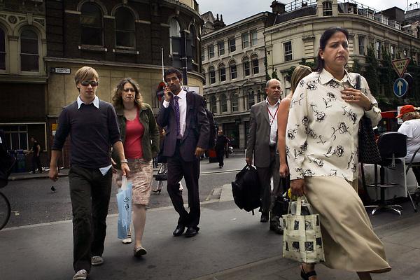 Traveller's at London's Liverpool st station. by Neville Elder