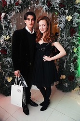 RICK KISSACK and OLIVIA GRANT at the launch of the English National Ballet's Christmas season 2009 held at the St.Martin;s Lane Hotel, London on 15th December 2009.