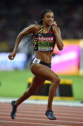 Nafissatou Thiam of Belgium in action - Mandatory byline: Patrick Khachfe/JMP - 07966 386802 - 05/08/2017 - ATHLETICS - London Stadium - London, England - 200m Heptathlon - IAAF World Championships