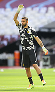 Rui Patricio of Wolverhampton Wanderers warms up during the Premier League match at the London Stadium, London. Picture date: 20th June 2020. Picture credit should read: David Klein/Sportimage