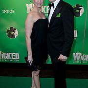 NLD/Scheveningen/20111106 - Premiere musical Wicked, Alexandra Alphenaar en partner Jaap van Andel