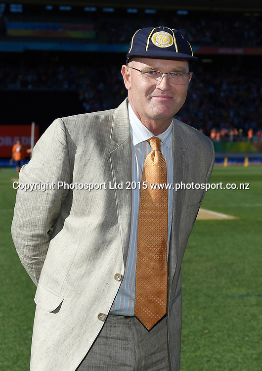 Martin Crowe is inducted into the ICC Hall of Fame during the ICC Cricket World Cup match between New Zealand and Australia at Eden Park in Auckland, New Zealand. Saturday 28 February 2015. Copyright Photo: Andrew Cornaga / www.Photosport.co.nz