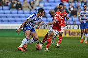 Reading FC midfielder Hal Robson-Kanu (left) during the The FA Cup fourth round match between Reading and Walsall at the Madejski Stadium, Reading, England on 30 January 2016. Photo by Mark Davies.
