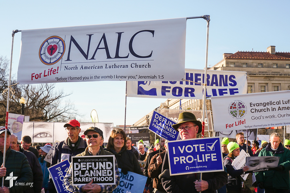 Photographs from the March for Life 2018 on Friday, Jan. 19, 2018, in Washington, D.C. LCMS Communications/Pamela Nielsen