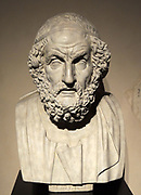Bust of the blind poet Homer In the Western classical tradition, Homer is the author of the Iliad and the Odyssey and is revered as the greatest ancient Greek epic poet. When he lived is unknown but Herodotus believes it to be around 850 BC.