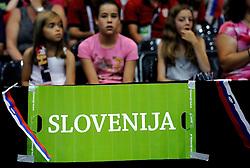 19-07-2013 VOLLEYBAL: EYOF FINAL SLOVENIE - SERVIE: UTRECHT<br /> Slovenie pakt de gouden medaille door Servie met 3-1 te verslaan / Support voor Slovenie<br /> ©2013-FotoHoogendoorn.nl
