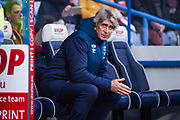 Manuel Pellegrini of West Ham United before the Premier League match between Huddersfield Town and West Ham United at the John Smiths Stadium, Huddersfield, England on 10 November 2018.