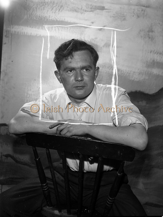 "11/09/1961<br /> 09/11/1961<br /> 11 September 1961<br /> Rehearsal for ""Sceal ar Phadraig"" new play at Damer Hall by Sean O'Tuama. Special for Gael Linn."