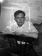 """11/09/1961<br /> 09/11/1961<br /> 11 September 1961<br /> Rehearsal for """"Sceal ar Phadraig"""" new play at Damer Hall by Sean O'Tuama. Special for Gael Linn."""