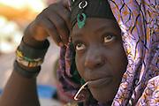 Bella merchant at weekly Gorom Gorom market, Northeastern Burkina Faso.