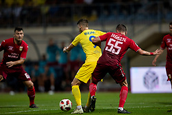 Lovro Bizjak of NK Domzale and Jemal Tabidze of FC Ufa during 2nd Leg football match between NK Domzale and FC Ufa in 2nd Qualifying Round of UEFA Europa League 2018/19, on August 2, 2018 in Sports Park Domzale, Domzale, Slovenia. Photo by Urban Urbanc / Sportida