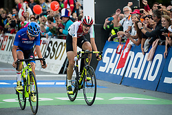 Arrival / Alessandro Fancellu of Italy / Alexandre Balmer of Switzerland / During the Men Juniors Road Race a 132.4km race from Kufstein to Innsbruck 582m at the 91st UCI Road World Championships 2018 / RR / RWC / on September 27, 2018 in Innsbruck, Austria. Photo by Vid Ponikvar / Sportida