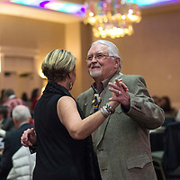 Mayor Jackie McKinney dances a two-step with Lorin Erramouspe at the McKinley County-Gallup Day Gala Reception at the Eldorado Hotel in Santa Fe Thursday.