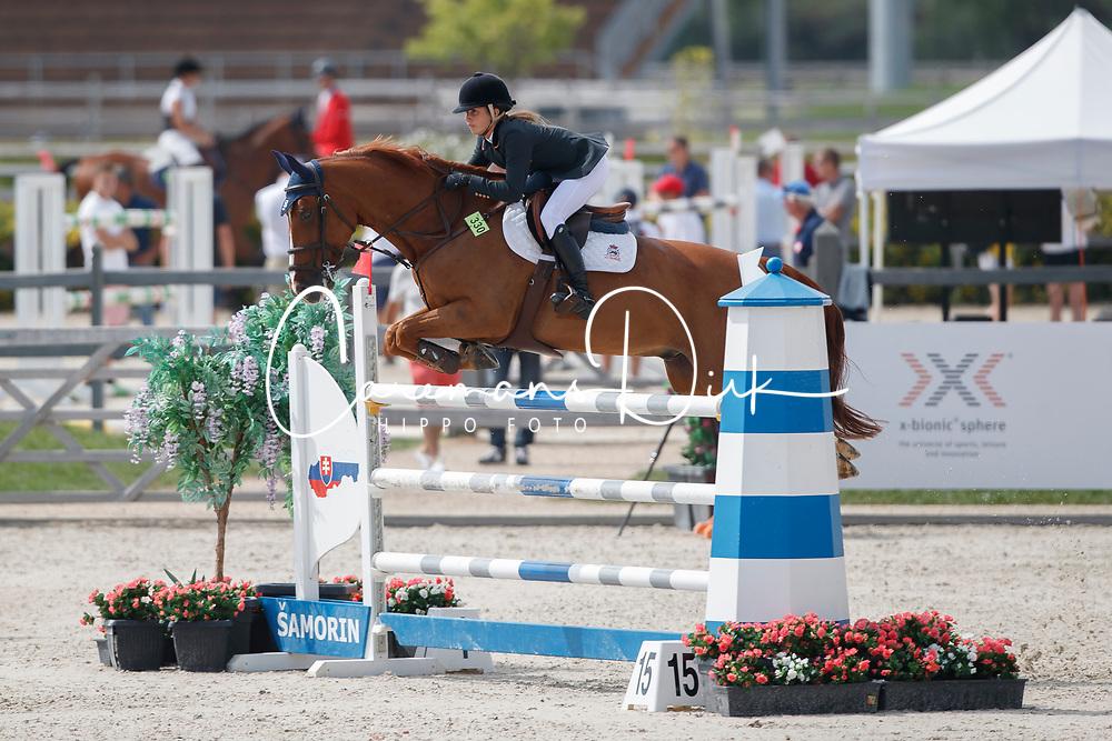 Diaz Banon Olivia, ESP, El Paciente de Sauco<br /> Juniors European Championships Jumping <br /> Samorin 2017© Hippo Foto - Dirk Caremans<br /> 11/08/2017
