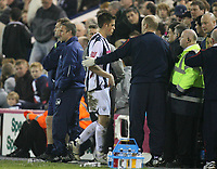 Photo: Rich Eaton.<br /> <br /> West Bromwich Albion v Sheffield Wednesday. Coca Cola Championship. 13/04/2007. West Broms Darren Carter leaves the pitch after being red carded late in the second half
