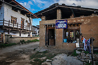 LOBESA, BHUTAN - CIRCA OCTOBER 2014: General Shop in the village of Lobesa, Chimi Lhakhang close to the temple of Divine Madman