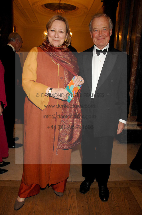 SIR KENNETH &amp; LADY CARLISLE at a gala dinner for the Theatre Royal Bury St.Edmunds to celebrate the near completion of the restoration of the Grade 1 listed theatre, held at the Royal Academy, Piccadilly, London on 9th July 2007.<br />