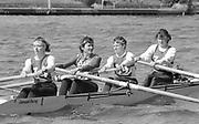1987 Leyland Daf Sprints, Kingston. UK Tideway Scullers School W4-. Stroke, Sue SMITH. and 3. Kate GROSE,