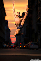 Manhattanhenge New York City- Dance As Art Photography Project featuring dancer, Daniel White