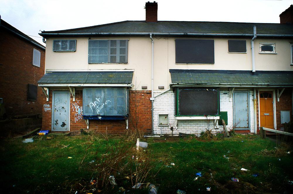 Derelict council houses awaiting development, Low Hill, Wolverhampton, West Midlands, England, Europe, UK.