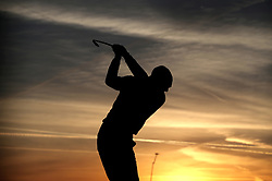 A Golfer on the driving range on day two of the Ryder Cup at Le Golf National, Saint-Quentin-en-Yvelines, Paris. PRESS ASSOCIATION Photo. Picture date: Saturday September 29, 2018. See PA story GOLF Ryder. Photo credit should read: Adam Davy/PA Wire. RESTRICTIONS: Use subject to restrictions. Written editorial use only. No commercial use.