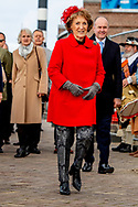 27-10-2018 HARLINGEN - Princess Margriet performs the baptism of the reconstructed expedition ship Willem Barentsz. It is a reconstruction of the ship of Barentsz` last Polar Travel in 1596. ROBIN UTRECHT