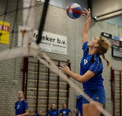 03-01-2015 NED: CMV Nationale Open Clubkampioenschappen Volleybal 2015, Houten<br /> Niet minder dan 491 jeugdteams, verdeeld over 27 sporthallen, begonnen aan de Nationale Open Clubkampioenschappen (NOJK) van 2015 / De jongens en meisjes CMV in actie in De Kruisboog te Houten /