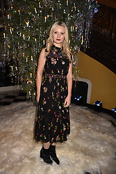 Emily Berrington at reception to celebrate the launch of the Claridge's Christmas Tree 2017 at Claridge's Hotel, Brook Street, London England. 28 November 2017.<br /> Photo by Dominic O'Neill/SilverHub 0203 174 1069 sales@silverhubmedia.com