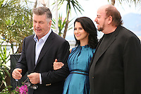 Actor Alec Baldwin, Hilaria Baldwin and Director James Toback.at the 'Seduced And Abandoned' film photocall at the Cannes Film Festival  Tuesday 21 May 2013