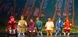 © Licensed to London News Pictures. 06/12/2012. London, England. Cast fromSnow White and the Seven Dwarfs at New Wimbledon Theatre, Wimbledon including Darius Ashard (second right). Darius Ashard has today (10/09/2013) been fined for  hurling abuse at police after he was thrown out of a nightclub for taking drugs, a court heard Photo credit: Bettina Strenske/LNP