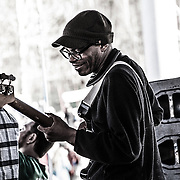 Bassist Brent Olds plays on stage in Sugarloaf during the 28th annual Bud Light Reggae Festival - 16th April 2016 - Sugarloaf, Maine, USA