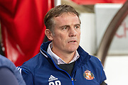 Sunderland FC manager Phil Parkinson before the EFL Sky Bet League 1 match between Sunderland and Burton Albion at the Stadium Of Light, Sunderland, England on 26 November 2019.